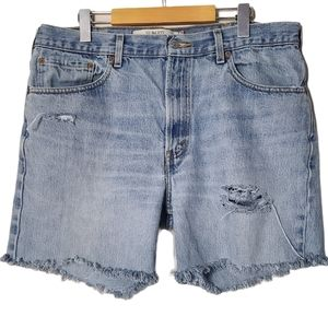 Levi's | Upcycled 516's into Cutoff Denim Shorts